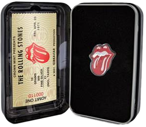 The Rolling Stones 2021 10g Pure Silver TONGUE AND LIPS Coin