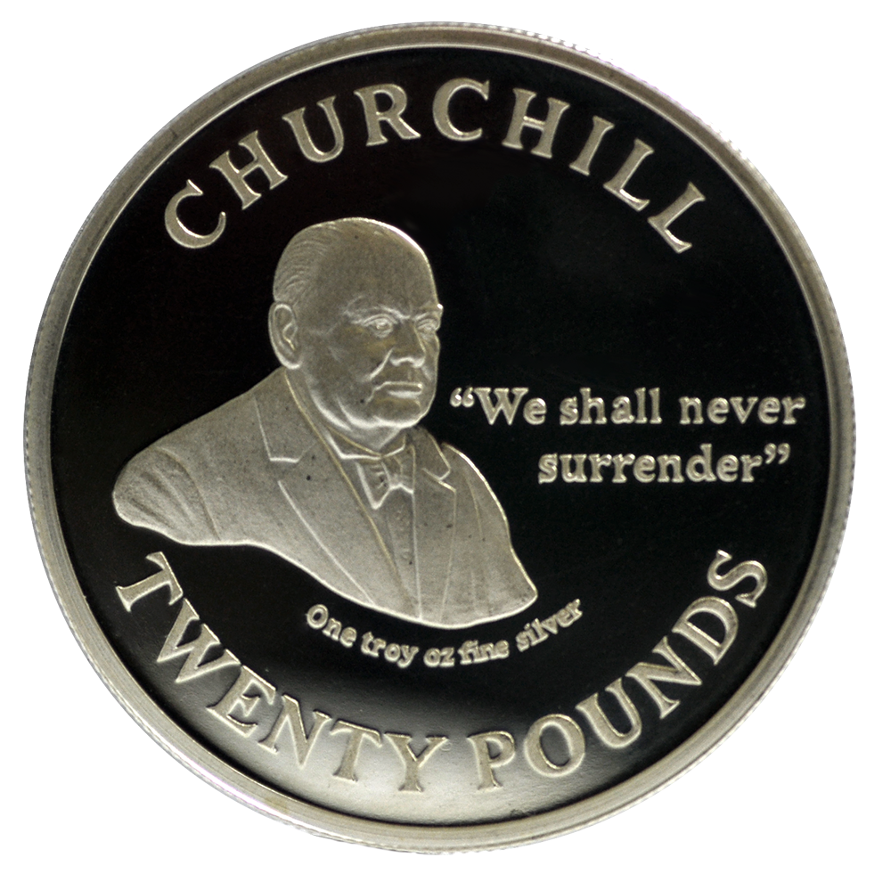 Winston Churchill - We Shall Never Surrender - £20 Circulating Coin