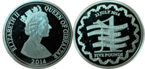 1st Birthday of Prince George of Cambridge 2014 Silver £5 Coin